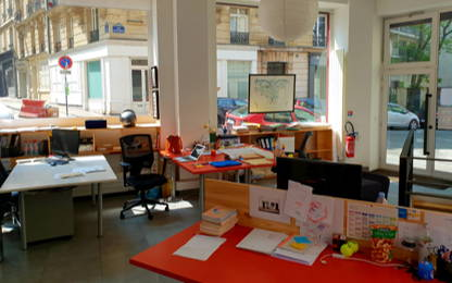Open Space  1  poste Location bureau Paris 75018