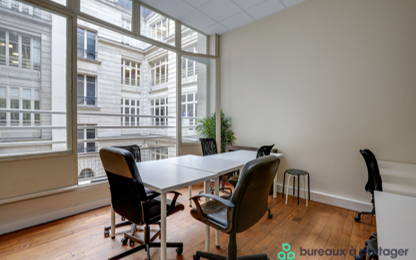 Open Space  5  postes Location bureau Paris 75002