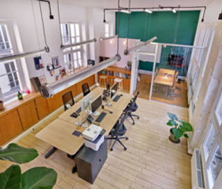 Open Space  9 postes Coworking Rue de Saintonge Paris 75003