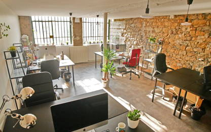 Open Space  4  postes Location bureau Lyon 69001
