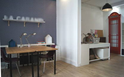 Open Space  2  postes Location bureau Paris 75009