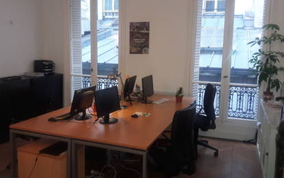 Open Space  3  postes Location bureau Paris 75001