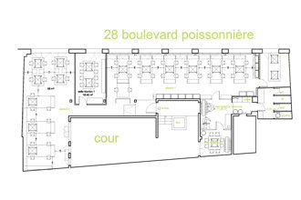 295 € par mois, 12 postes , Paris, OPEN SPACE ARCHITECTES 75009