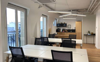 Open Space  6  postes Location bureau Paris 75002
